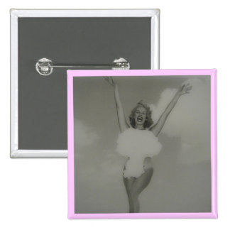 Miss Atomic Bomb 1957 Pinback Button
