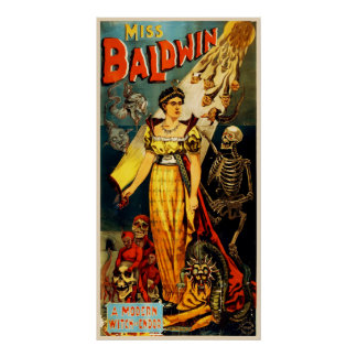 Miss Baldwin Vintage Magic Poster