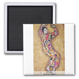 Miss Beer By Schiele Egon 2 Inch Square Magnet
