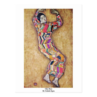 Miss Beer By Schiele Egon Post Card