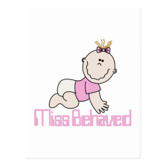 Miss Behaved Postcard