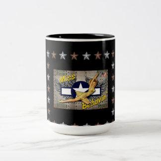 Miss Behaving Two-Tone Coffee Mug