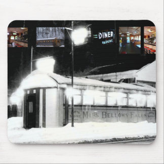 miss bellows falls diner mouse pad