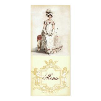 """""""Miss Bennet"""" Menu Card"""