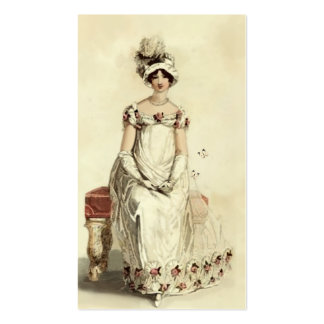 """""""Miss Bennet""""  on cream Double-Sided Standard Business Cards (Pack Of 100)"""