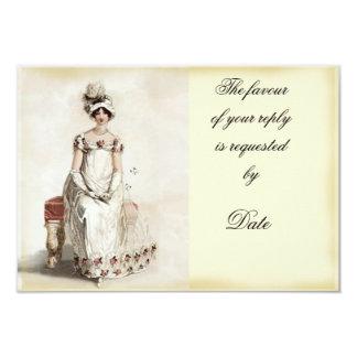 """""""Miss Bennet"""" RSVP Card"""