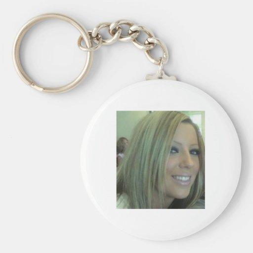 Miss Beth Basic Round Button Keychain