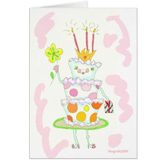 miss birthday cake card