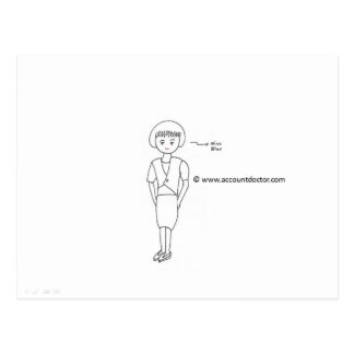 Miss Blur Postcard