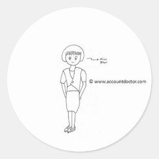 Miss Blur Classic Round Sticker