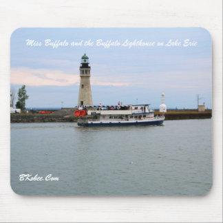 Miss Buffalo and Lighthouse, Buffalo NY Mouse Pad