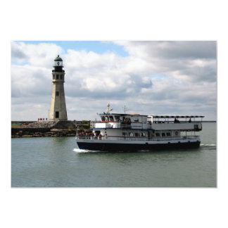 Miss Buffalo & Buffalo Main Lighthouse Card