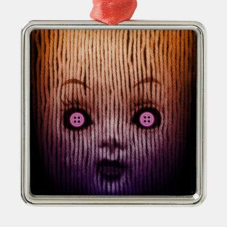 Miss button 2013 metal ornament