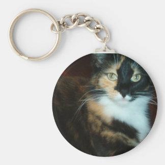 Miss Calico Kitty Keychain