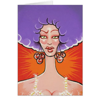Miss Cherry greeting card