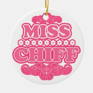 """Miss Chiff"" Fashion Statement Ornament"