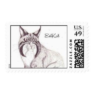 Miss Citten the EelKat Postage Stamp