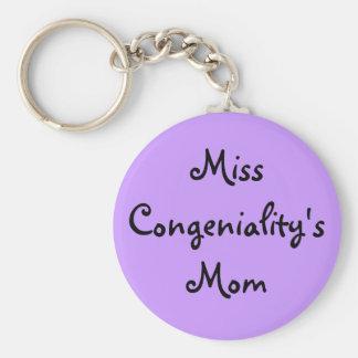 Miss Congeniality's Mom Basic Round Button Keychain