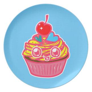 Miss Cupcake Doodle Art Plate