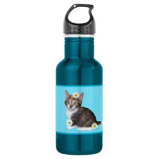 """""""Miss Daisy"""" Blue Water Bottle"""