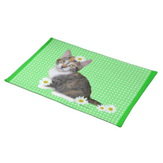 """Miss Daisy"" Green Placemat Cloth Placemat"