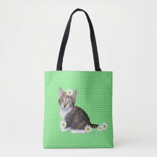 """Miss Daisy"" Green Tote"