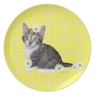 Miss Daisy Yellow Plate