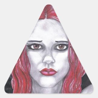 Miss Diva Triangle Stickers