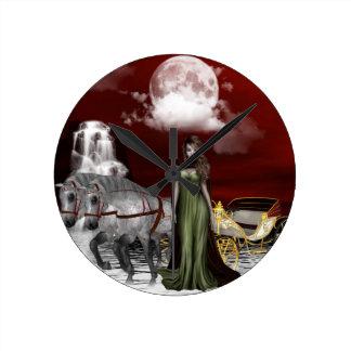 """Miss Dracula"" Round Clock"