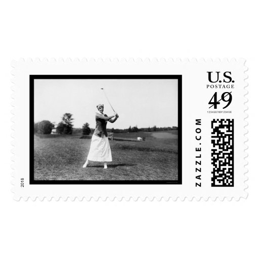 Miss E. Pickhardt Playing Golf 1914 Postage Stamps