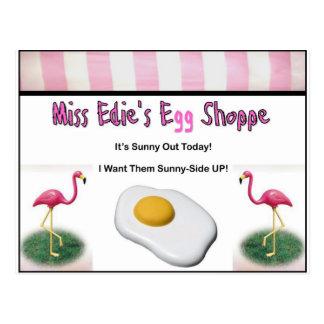 Miss Edie's Egg Shoppe Postcard