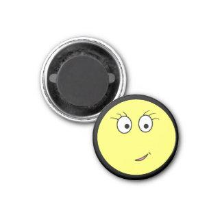Miss Emoticon 1 Inch Round Magnet