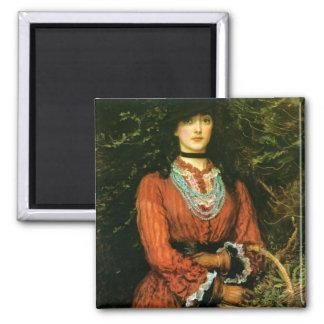 Miss Eveleen Tennant fine art 2 Inch Square Magnet