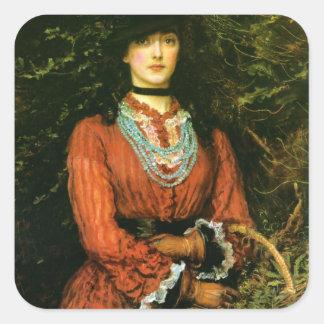 Miss Eveleen Tennant fine art Square Sticker
