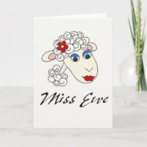 """Miss Ewe""~Whimiscal Sheep Notecard"