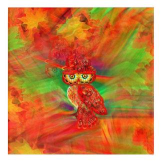 Miss Extravagance Fall Fashion Owl Acrylic Print