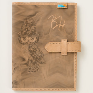 Miss Extravagance Fall Fashion Owl Leather Journal