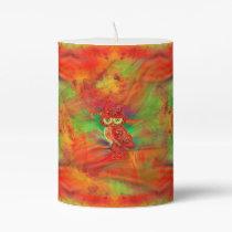 Miss Extravagance Fall Fashion Owl Pillar Candle