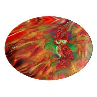 Miss Extravagance Fall Fashion Owl Platter