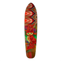 Miss Extravagance Fall Fashion Owl Skateboard