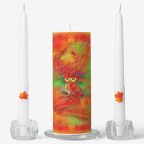 Miss Extravagance Fall Fashion Owl Unity Candle Set