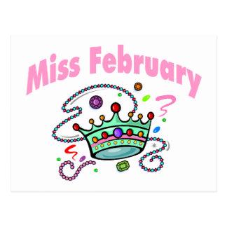 Miss February (2) Postcard