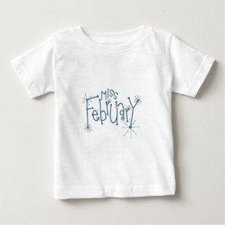 Miss February Baby T-Shirt