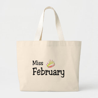 Miss February Large Tote Bag