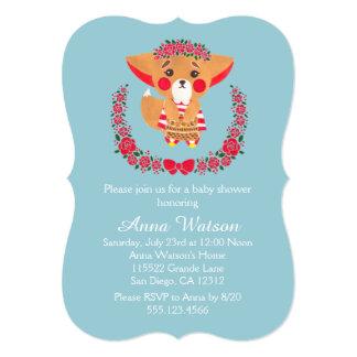 Miss Fennec Fox Baby Shower Invitation
