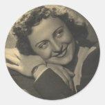 Miss Filomena. Round Stickers