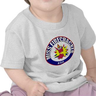 Miss Firecracker baby t-shirts