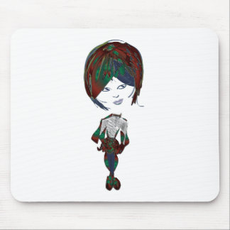 Miss-fit Emo Girl Digital Art Mouse Pad