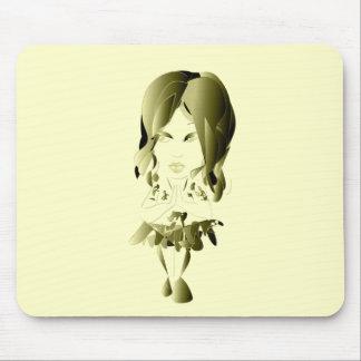 Miss-fit Faith Digital Girl Art Mouse Pad