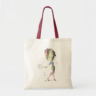 Miss-fit Girl Plays Tennis! Budget Tote Bag